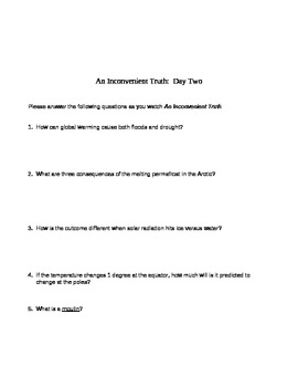 An Inconvenient Truth Question Guide