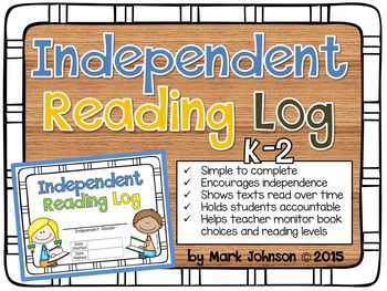 An Independent Reading Log for Primary Readers