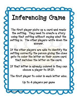 An Inference Activity - Setting