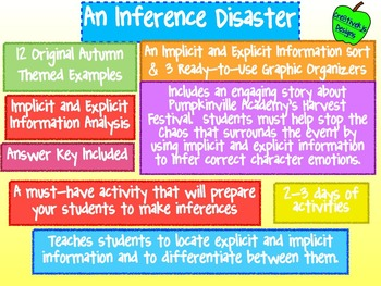 An Inference Disaster:  Implicit and Explicit Information - A Halloween Special