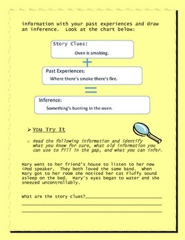 Inference lesson for Descriptive Writing