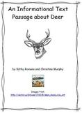 An Informational Text Passage About Deer