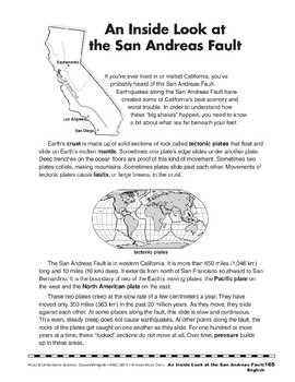 An Inside Look at the San Andreas Fault