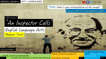 An Inspector Calls, Act 1 Synoptic 'Look Back'. Reading Unit.