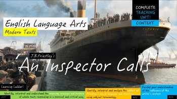 An Inspector Calls, COMPLETE CONTEXT UNIT! English Language Arts Study
