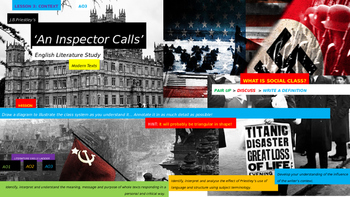An Inspector Calls, English Language study, CONTEXT Unit (Lesson 3)