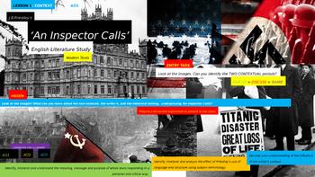 An Inspector Calls, English Literature Study, CONTEXT UNIT (Lesson 1)