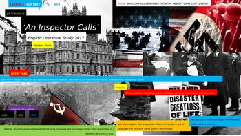 An Inspector Calls,  English Literature Study, CONTEXT Unit (Lesson 2)