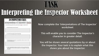 An Inspector Calls: Inspector Goole