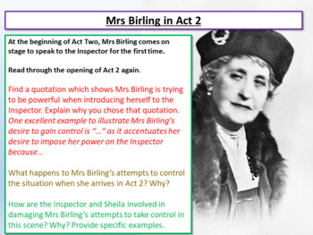 An Inspector Calls - Mrs Birling