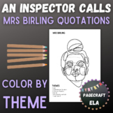 An Inspector Calls | Mrs Birling Quotations | Color by Theme