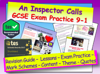 An Inspector Calls: Revision Pack / Exam Practice