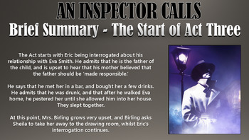 An Inspector Calls: Sybil and Eric Birling Double Lesson!