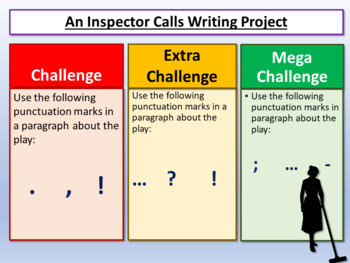 An Inspector Calls: Writing Project