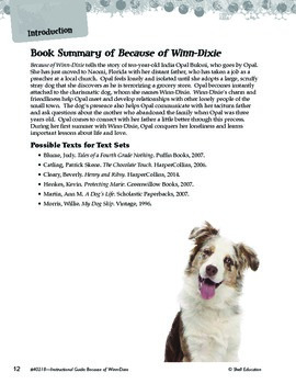 An Instructional Guide for Literature: Because of Winn-Dixie (eBook)