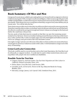 An Instructional Guide for Literature: Of Mice and Men (eBook)