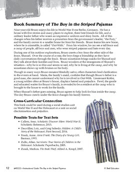 An Instructional Guide for Literature: The Boy in the Striped Pajamas (eBook)