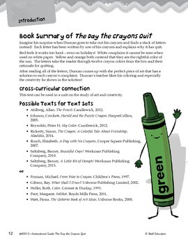 An Instructional Guide for Literature: The Day the Crayons Quit (eBook)