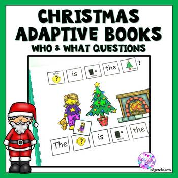 Christmas Adapted Book Wh Questions (Who and What)