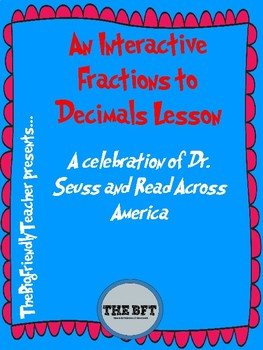 An Interactive Fractions to Decimals Restaurant Activity