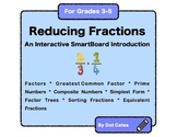 An Interactive Smartboard Introduction to Reducing Fractions for Gr. 3 - 5