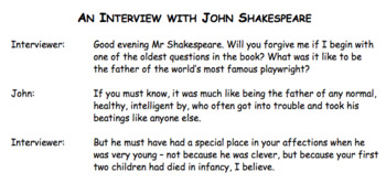 An Interview With John Shakespeare