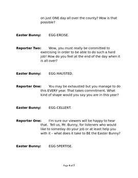 An Interview with the Easter Bunny - Small Group Reader's Theater