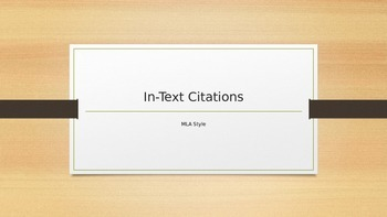 An Intro to MLA In-Text Citations:  Signal Phrases, Ellips