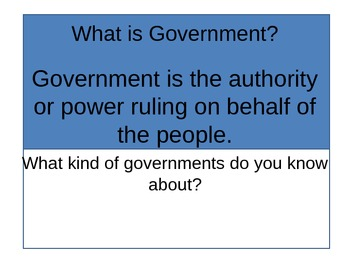 An Introduction Federal Government  3 Branches of Government