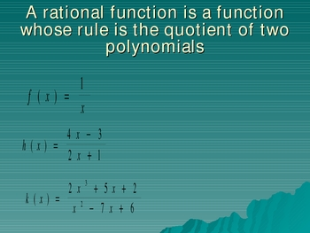 An introduction to graphing rational functions