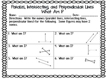 An Introduction To Parallel, Intersecting, and Perpendicular Lines