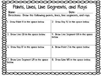 An Introduction To Points, Lines, Line Segments, and Rays