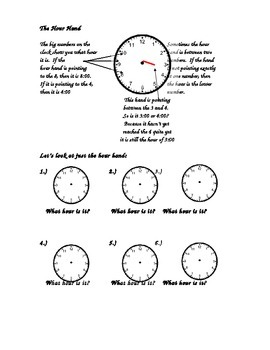 An Introduction inHow to tell time