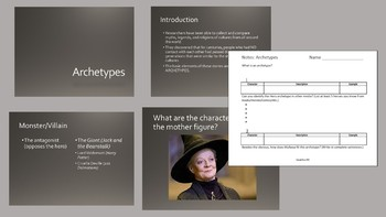 An Introduction to Archetypes | PowerPoint and Guided Notetaker