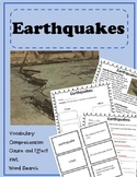 An Introduction to Earthquakes- Vocabulary, Comprehension,