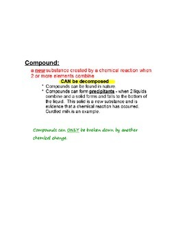 An Introduction to Elements & Compounds Smart Notebook