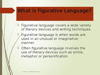 An Introduction to Figurative Language - PowerPoint Presentation