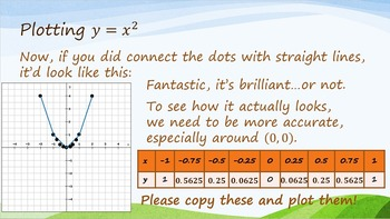 An Introduction to Graphing Squared Variables PPT and Worksheets
