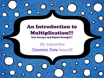 An Introduction to Multiplication - A Common Core Interact