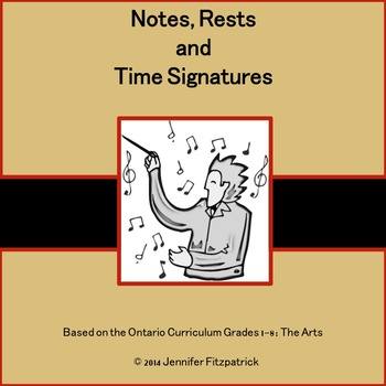 Notes, Rests and Time Signature.
