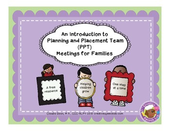 An Introduction to Planning and Placement Team Meetings fo