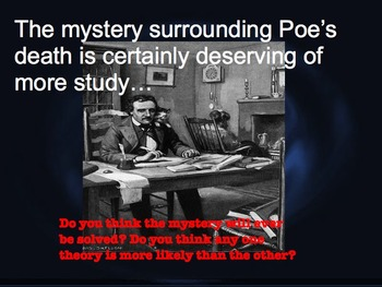 An Introduction to Poe - Presentation, Quiz, & Raven Worksheet with Full Poem