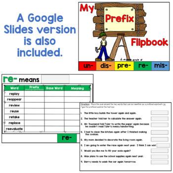 Prefixes Flipbook (including 5 common prefixes!)