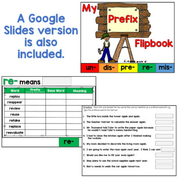 Prefixes Flipbook (including 5 common prefixes!)