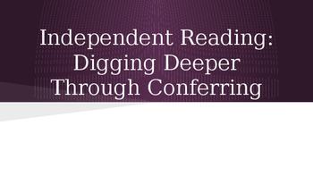An Introduction to Reading Conferences for Teachers