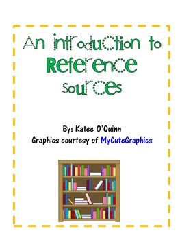 An Introduction to Reference Sources Freebie