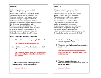 An Introduction to Shakespeare's Sonnets