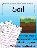 An Introduction to Soil - Vocabulary, Comprehension, Graph