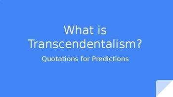 An Introduction to Transcendentalism
