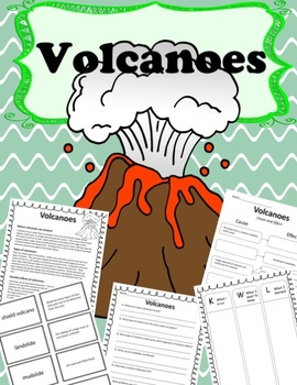 An Introduction to Volcanoes- Vocabulary, Comprehension, Cause and Effect